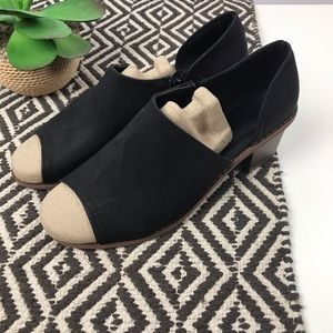 Shoes - NEW Black Peep Toe Side Cut Booties Size 39 8.5-9